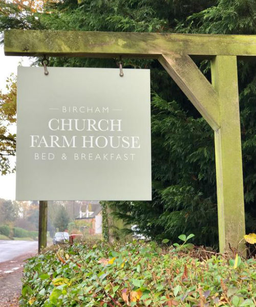 Church Farmhouse Bed and Breakfast sign